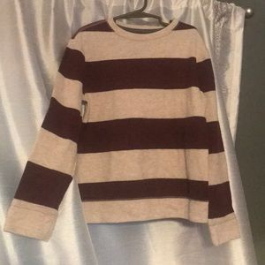Striped boys thermal top